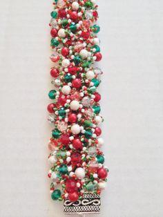 Handmade Glass and Crystal Bracelets Holiday Jewelry, Crystal Bracelets, Crystals, Handmade, Ebay, Glass, Christmas, Yule, Hand Made