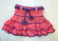 CROCHET PATTERN Ruffle Skirt instant download by PatternStudio1, $2.99