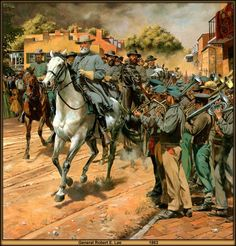 General Robert E. Lee in 1863 by Don Troiani; buy his prints if you can… Confederate States Of America, America Civil War, America America, Military Art, Military History, Us History, American History, Civil War Art, Southern Heritage