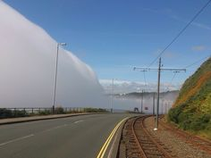 The mist that often surrounds the Isle of Man - it is called Manannan's Cloak. - Imgur