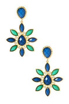 Arielle Earrings Blue and Turquoise $100>$29