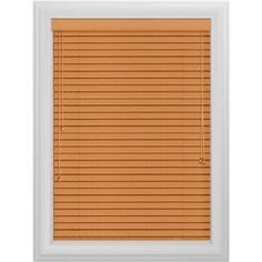 Bali Essentials 2 inch Wood Blind, No Holes, Corded, Wheatfields, Brown