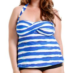 c4ede3ba772 Catalina - Women's Plus-Size Twist Halter Tankini Swimsuit Top - Walmart.com