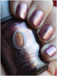 Orly - Ingenue (quite possibly my favorite nail polish - it is so glittery & has a different color in different lights)