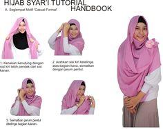 Tutorial jilbab menutup dada