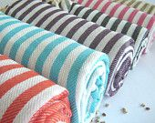 Natural Turkish Towel, $24.00, via Etsy. {Very absorbent; would love one as a beach towel!}