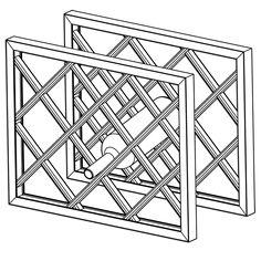 Lattice Wine Rack Dimensions | Assembled Wine Rack With Frame - Part #1736