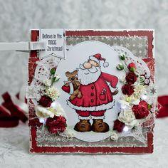 Led Lights on Christmas Card