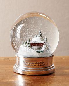 'Covered Bridge' snow globe
