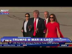 WATCH: Donald Trump and Melania Trump REUNITE in Florida for Mar-A-Lago Weekend as Crowds Cheer - YouTube
