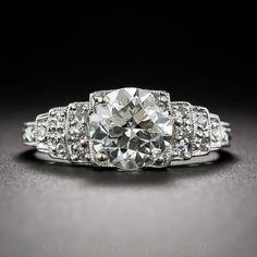 1.45 Carat Art Deco Engagement Ring - 10-3-6952 - Lang Antiques