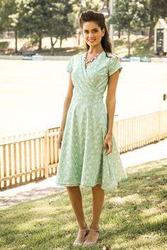 Triangle Print Bass Strait Wrap Dress by Shabby Apple ... LOVE!