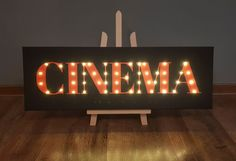 Cinema sign Cinema decor Vintage cinema Man gift Guy cave | Etsy Man Cave Lighting, Sign Lighting, Light Up Signs, Light Up Letters, Marquee Letters, Marquee Lights, Tarot, Theater Room Decor, Cinema Sign