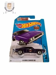 Hot Wheels 2015 69 Dodge Charger 500  IMPORTADO 69' DODGE CHARGER 500 HEMI 426 50º ANIVERSARIO HOT WHEELS 2015   CERRADO EN BLISTER