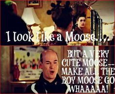 BAHAHAHAHAH @Melissa Burney we could make you a moose since you like moose so much??? Consider it... this could be legendary!