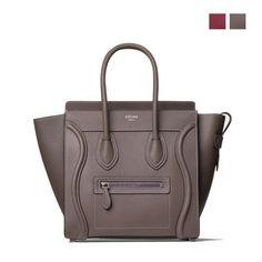 Original quality Celine micro luggage handbag in souris drummed calfskin  Celine Handbags 13d7d673b68b9