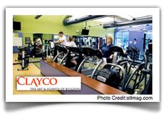 Clayco #320 - Beyond building design and construction projects at Clayco (#320), many employees build toned bodies in a decked-out gym—complete with a personal trainer on the payroll. And after squeezing a quick workout into the day, they can shower off in bathrooms stocked with hairspray, Tums, mouthwash, floss and more.
