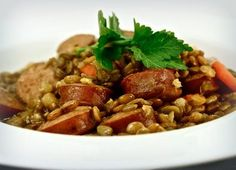 Johnsonville Rustic Lentil Stew with Johnsonville Apple Chicken Sausage