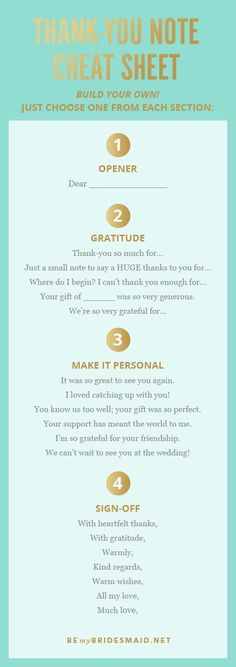 """Don't know where to start with your handwritten """"Thank You"""" card? Here's a quick cheat sheet to get you thinking about what you appreciate about your students. #quickweddingplanning"""