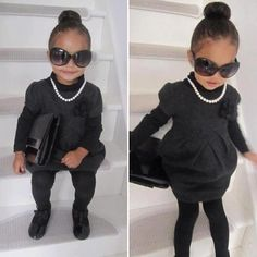 When I have a daughter I would dress her jus like this! Too cute!