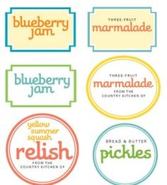 Free Printable Canning Labels: These adorable labels will help you organize your kitchen this summer! countrywomanmagazine.com