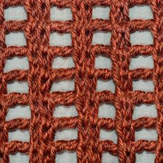 Lace Columns (Tunisian Crochet)