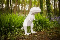 Trex Papercraft Template DIY Paper Pet by Paperpetshop on Etsy 3d Paper, Paper Toys, Paper Crafts, Happy Birthday Piano, Printable Masks, Diamond Drawing, Paper Animals, Paper Models, Colored Paper