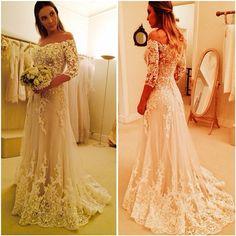 vestido de noiva 2015 Wanda Borges wedding dress.lace wedding dress