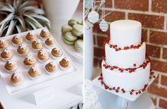 California Christmas wedding sweets and cake