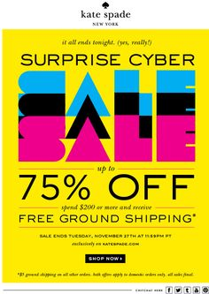 Kate Spade E-mail Newsletter Email Newsletter Design, Email Design, Web Design, Sale Emails, Web Banner, Banners, E-mail Marketing, Build Your Brand, Layout