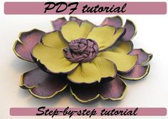 Leather flower tutorial Fantasy flower PDF by HMCreativeSupplies, $4.90