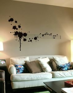 Blik unique wall decals are a fun and creative way to brighten up any room in the house. Browse our selection of wall stickers for sale online. Music Wall Art, Music Decor, Dorm Life, Diy Room Decor, Home Decor, My New Room, Interiores Design, Wall Decals, Wall Stickers