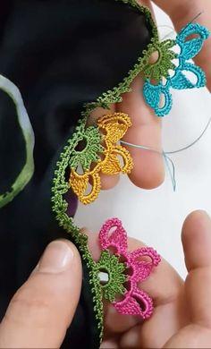 Look Bak Bitmez 81 Different Crochet Flowers Sequined Motif Beaded Lace Models Crochet Boarders, Crochet Flower Patterns, Crochet Art, Hand Embroidery Patterns, Crochet Designs, Crochet Flowers, Crochet Classes, Crochet Projects, Crochet Buttons