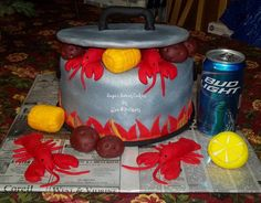 Crawfish lover grooms cake (minus the beer can)