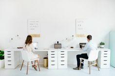 Un estudio para trabajar en pareja... y no dejar de brillar | Ministry of Deco