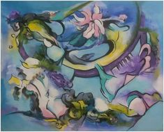 "Silvie Kreiselová  ""Tanec jara"" Acryl 45x55."