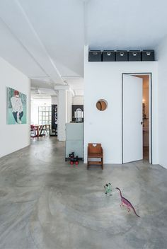 Industrial Garage in Amsterdam Transformed Into Family Home - http://freshome.com/industrial-garage-amsterdam-family-home/