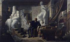 Alexandre CABANEL /Michelangelo in his Studio Visited by Pope Julius II