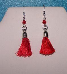 red-boho-tassel-earrings