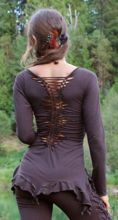 love the braiding on this shirt and the ruffled bottom