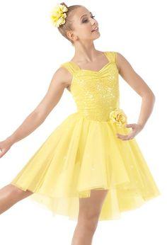 Weissman®   Tulle Strap High-Low Skirt Dress