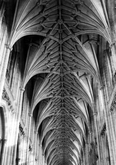 The Nave Vault, Winchester Cathedral, Hampshire, 1959