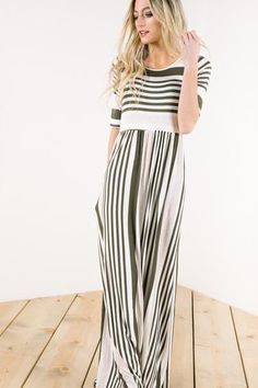 Stripes are a style for every season. With vertical stripes to create alengthening effect, wearers appear instantly taller. This is one look you don't want to pass up.  Model is wearing a small 95% rayon viscose 5% spandex