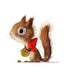 Wiebke Rauers Illustration The post Wiebke Rauers Illustration appeared first on Live. Squirrel Illustration, Cute Illustration, Character Illustration, Cute Animal Drawings, Animal Sketches, Cute Drawings, Squirrel Art, Woodland Creatures, Watercolor Animals