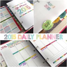 2015-16 Planner with 21 Day Fix check boxes! Track your containers right on your weekly planner pages.
