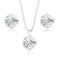 925 Silver Crystal Swarovski Elements 8mm Necklace & Stud Earrings Set. Deal Price: $14.99. List Price: $75.00. Visit http://dealtodeals.com/silver-crystal-swarovski-elements-8mm-necklace-stud-earrings-set/d19352/jewelry/c12/