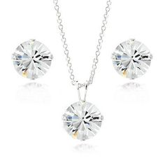 925 Silver Crystal Swarovski Elements 8mm Necklace & Stud Earrings Set. Deal Price: $14.99. List Price: $75.00. Visit http://dealtodeals.com/silver-crystal-swarovski-elements-8mm-necklace-stud-earrings-set/d19352/jewelry/c12/