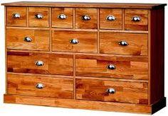 Bildergebnis für apothekerkommode Dresser, Furniture, Home Decor, Powder Room, Stained Dresser, Interior Design, Home Interior Design, Dressers, Arredamento