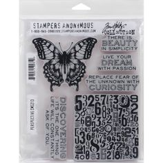 """Tim Holtz Cling Rubber Stamp Set 7""""X8.5"""" - Perspective"""