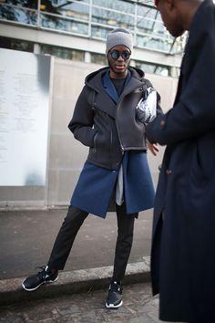 アレキサンダーワン x H&Mのスキューバージャケット+adidasチューブラー